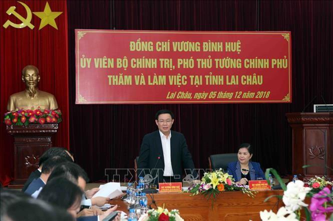 越南政府副总理王庭惠与莱州省主要领导人举行工作座谈 - ảnh 1