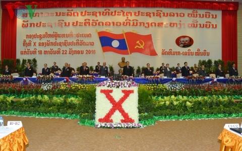 พิธีเปิดการประชุมสมัชชาใหญ่พรรคประชาชนปฏิวัติลาวสมัยที่ 10 - ảnh 1