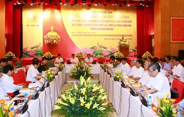 ประธานประเทศเข้าร่วมการสัมมนาเชิงวิชาการระดับชาติของกระทรวงรักษาความมั่นคงทั่วไป    - ảnh 1
