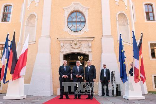 เยอรมนี ฝรั่งเศส และโปแลนด์ให้คำมั่นที่จะร่วมมือผลักดันประสิทธิภาพของอียู - ảnh 1