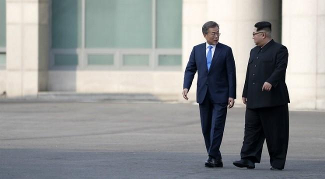Президент Южной Кореи встретился с лидером КНДР - ảnh 1