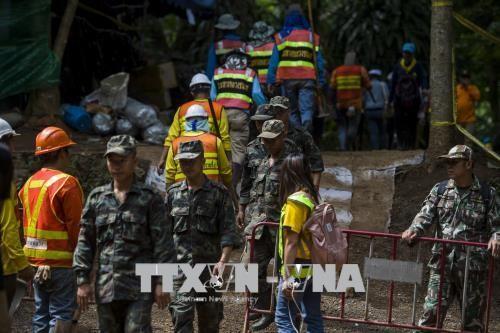 Таиланд активизирует поисково-спасательную работу в пещере в связи с большими дождями - ảnh 1