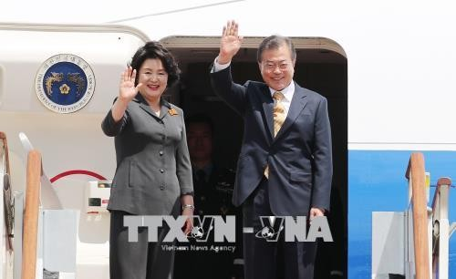 Президент Республики Корея Мун Чжэ Ин находится в Индии с визитом - ảnh 1