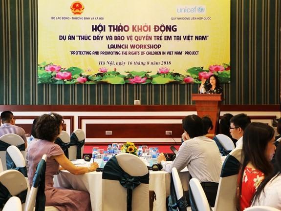 「ベトナムにおける子どもの権利の保護と促進」プログラムを開始 - ảnh 1