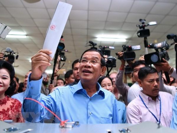 Народная партия Камбоджи одержала убедительную победу на парламентских выборах  - ảnh 1