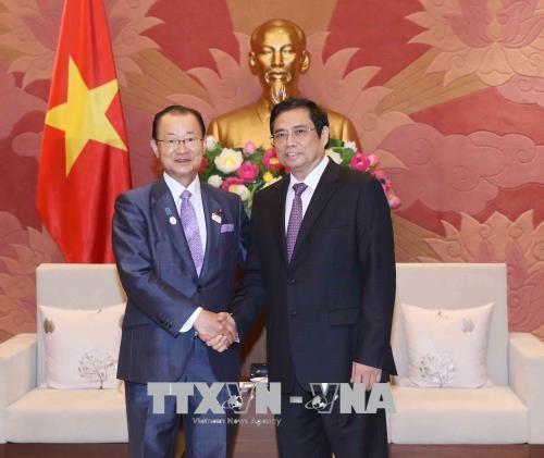 Chủ tịch Nhóm Nghị sĩ hữu nghị Việt Nam- Nhật Bản tiếp Phó Chủ tịch Liên minh Nghị sĩ hữu nghị Nhật-Việt  - ảnh 1