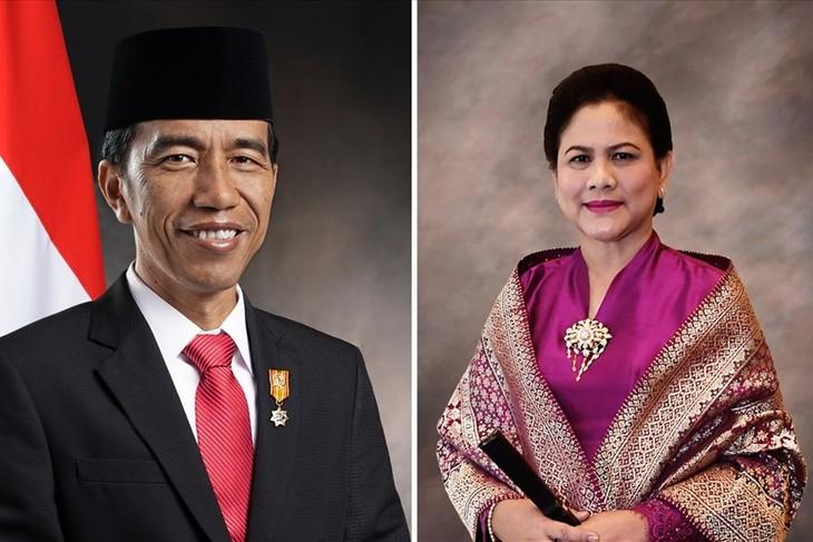 Президент Индонезии с супругой начал государственный визит во Вьетнам - ảnh 1
