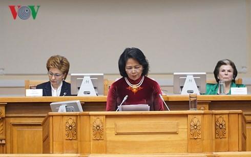 Вьетнам призвал женщин во всем мире расширять международное сотрудничество и вносить активный вклад в выполнение целей устойчивого развития - ảnh 1