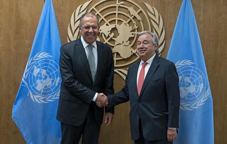 Генсек ООН и глава МИД РФ обсудили ситуацию в Сирии и на Украине - ảnh 1