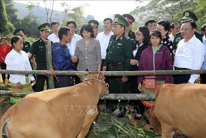 Врио президента Вьетнама Данг Тхи Нгок Тхинь совершила рабочую поездку в провинцию Шонла - ảnh 1