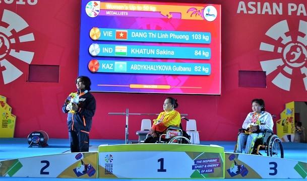 Вьетнамские спортсмены успешно выступают на Азиатских Паралимпийских играх 2018 - ảnh 1
