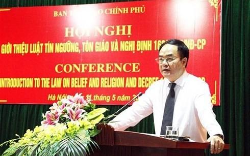 Вьетнам и Россия обменялись опытом в государственном управлении делами по вопросам религий - ảnh 1