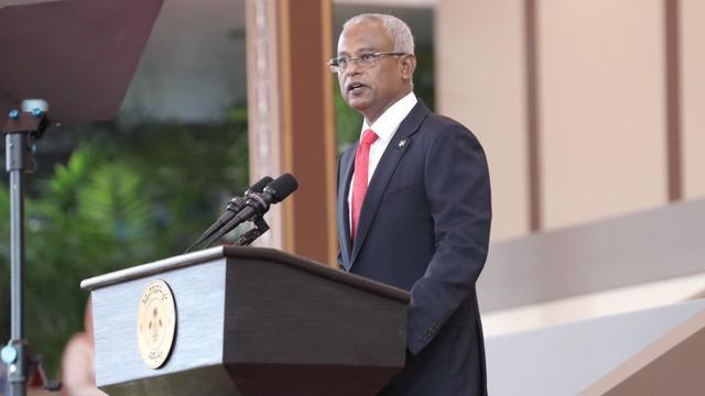Поздравительная телеграмма в адрес президента Мальдив - ảnh 1