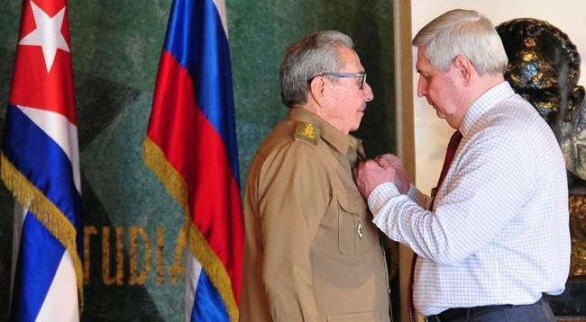 КПРФ удостоила первого секретаря Коммунистической партии Кубы Рауля Кастро Ленинской премии - ảnh 1