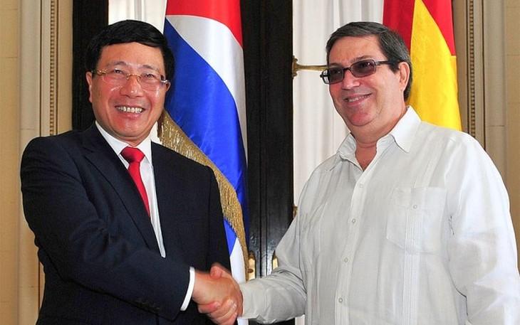 Вице-премьер, министр иностранных дел СРВ Фам Бинь Минь начал официальный визит на Кубу - ảnh 1