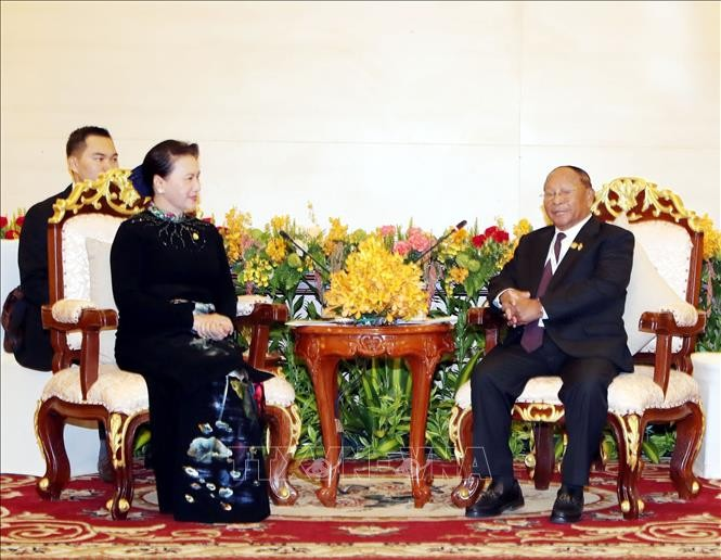 Председатель НА Камбоджи Хенг Самрин начал официальный визит во Вьетнам - ảnh 1