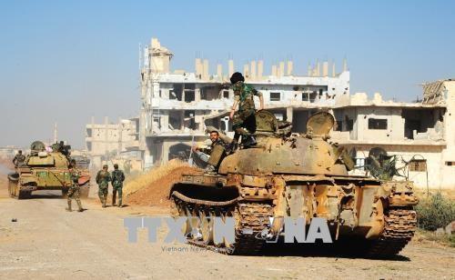 Syrian army seize ISIS ammunition - ảnh 1
