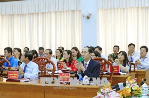 President Ton Duc Thang's 130th birth anniversary commemorated  - ảnh 2