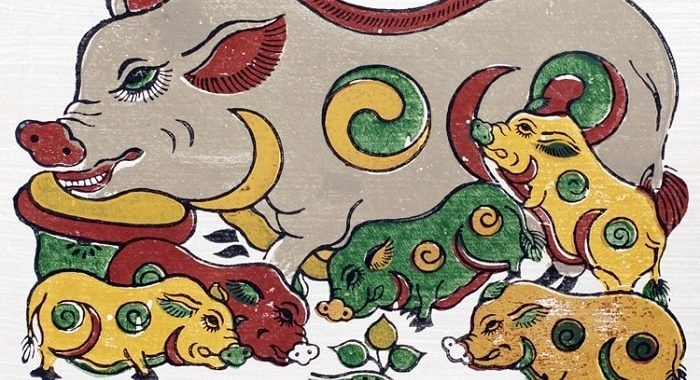 Zodiac animal paintings decorated for Tet holidays - ảnh 1
