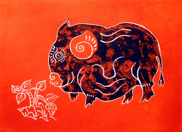 Zodiac animal paintings decorated for Tet holidays - ảnh 2