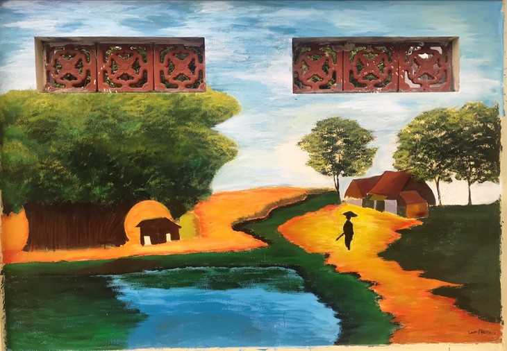 Youth murals promote cultural tradition of Hanoi's village - ảnh 4