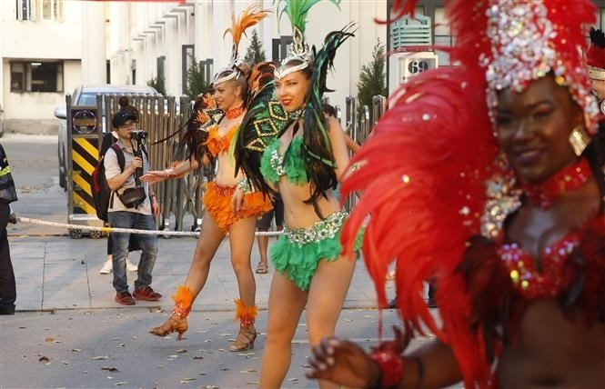 Carnival stirs up pedestrian street in Hanoi - ảnh 1