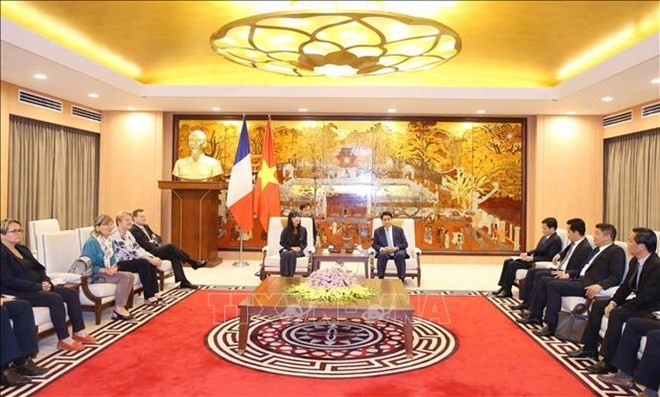 Hanoi, France strengthen cooperation in infrastructure construction - ảnh 1