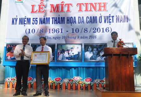 55th anniversary of Agent Orange/ dioxin catastrophe in Vietnam marked - ảnh 1