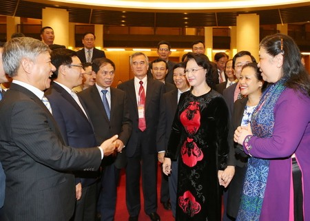 NA Chairwoman attends meeting of People's Councils of northern provinces - ảnh 1