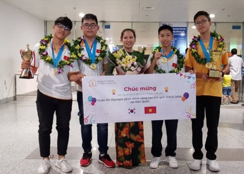 Vietnamese students win big at Invention Creativity Olympic 2018 - ảnh 1