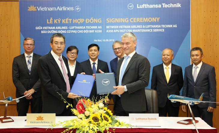 German firm to provide technical support for Vietnam Airlines' Airbus A350 - ảnh 1