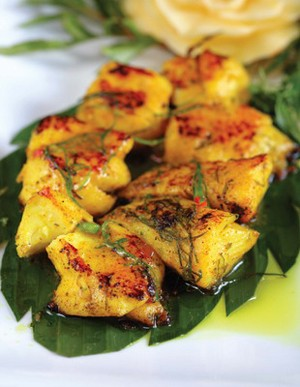 Baked fish with banana leaves - ảnh 1