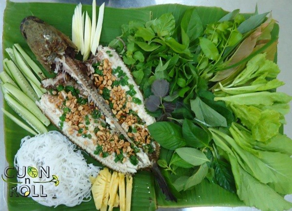Fresh spring rolls with fish and herbs - ảnh 1