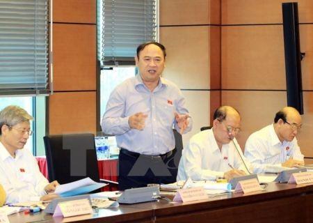 Quốc hội thảo luận ở hội trường về dự thảo Luật kiểm toán Nhà nước  - ảnh 1