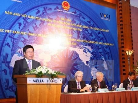 Đăng cai tổ chức các hoạt động của Diễn đàn APEC năm 2017 là một trọng tâm đối ngoại của VN đến 2020 - ảnh 1