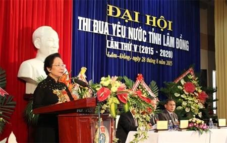 Phó Chủ tịch nước Nguyễn Thị Doan dự Đại hội Thi đua yêu nước tỉnh Lâm Đồng lần thứ V  - ảnh 1