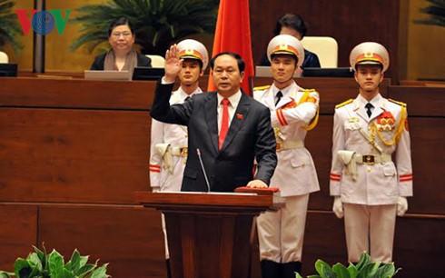 Lãnh đạo các nước chúc mừng Chủ tịch nước Trần Đại Quang - ảnh 1