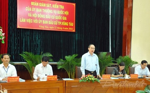 Đoàn Giám sát, kiểm tra của UBTVQH, Hội đồng Bầu cử Quốc gia làm việc với Ủy ban Bầu cử TP Vũng Tàu - ảnh 1