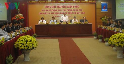 Thủ tướng Nguyễn Xuân Phúc làm việc với Tập đoàn Dầu khí Quốc gia Việt Nam  - ảnh 1
