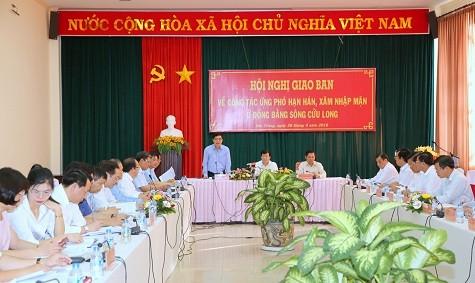 Các tỉnh Đồng bằng sông Cửu Long chủ động ứng phó với hạn hán, xâm nhập mặn - ảnh 1