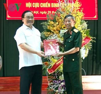 Bí thư Thành ủy Hà Nội Hoàng Trung Hải thăm và làm việc với Hội cựu chiến binh Hà Nội - ảnh 1