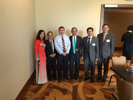Đại sứ quán Việt Nam tại Mỹ gặp gỡ cộng đồng doanh nghiệp Texas  - ảnh 1
