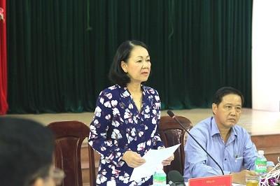Trưởng ban Dân vận TW Trương Thị Mai làm việc với huyện Hòa Vang,  Đà Nẵng về xây dựng nông thôn mới - ảnh 1