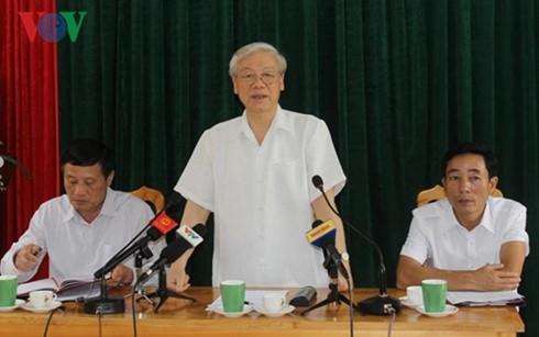 Tổng Bí thư Nguyễn Phú Trọng thăm và làm việc tại tỉnh Lai Châu  - ảnh 1