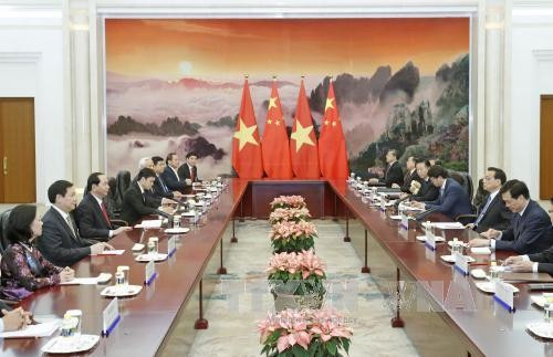 Chủ tịch nước Trần Đại Quang hội kiến với Thủ tướng Lý Khắc Cường - ảnh 1