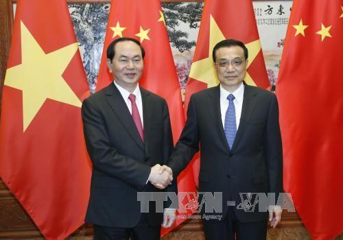 Chủ tịch nước Trần Đại Quang hội kiến với Thủ tướng Lý Khắc Cường - ảnh 2