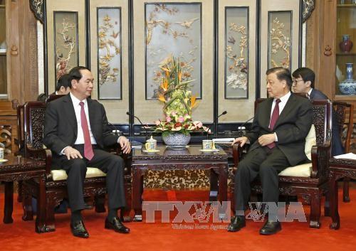 Chủ tịch nước Trần Đại Quang hội kiến các Lãnh đạo Trung Quốc - ảnh 3