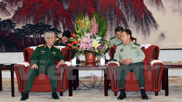 Phó Chủ tịch Quân ủy Trung ương Trung Quốc tiếp Thượng tướng Nguyễn Chí Vịnh - ảnh 1
