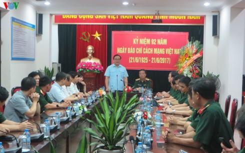 Bí thư thành ủy Hà Nội Hoàng Trung Hải thăm, chúc mừng báo Quân đội nhân dân - ảnh 1