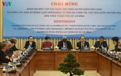 Bí thư Thành ủy thành phố Hồ Chí Minh Nguyễn Thiện Nhân tiếp Chủ tịch Quốc hội Cu Ba - ảnh 1